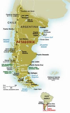 Patagonia Harta